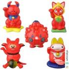 @sofvi.tokyo:MAO MAO UAMOU(red color ver.) 招き化け猫 又之助(red color ver.) CO-RET/コレット(red color ver.) 大福(red color ver.) マネキマクリマロボ(red color ver.) http://sofvi.tokyo/medicomtoy-manual-volume3-engimonohyakkaten/