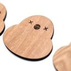 WOODEN CHICKEN COASTERS!Designed by Ayako Takagi 『Coloured Chicken Makers』(CCM)の『ひよこコースター』のデザインをSTUDIO UAMOUの高木綾子が手がけました! STUDIO UAMOUと同様、2k540 AKI-OKA ARTISAN内にある『NOCRA』が製造を担当。STUDIO UAMOUでの販売に先駆け、3/18(土)赤坂グラフィティにて開催されるCCMライブで先行発売されます! 『Coloured Chicken Makers』東中野『作曲塾』の塾長でもあり、様々な楽曲の作詞作曲を手がける川瀬知香と、川瀬が手がけるローカルヒーローの曲を歌う日野章吾との出会いをきっかけに結成。 @hinoshogo 『NOCRA』 NORTH(北の) + CRAFT(クラフト) = NOCRA(ノクラ) 北海道・旭川の自社工房で製作した、インテリア・食器・ステーショナリーなど、温もりと遊び心あふれる木製品木製雑貨の店。