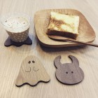 "UAMOU & BOO COASTERS! During hot summer like this, it's important to keep cold drink aside to avoid dehydration. And here is the best item to save your laptop or an important document from condensation forms on the cup! Thanks to NOCRA's cooperation again, we can produce wooden coaster of Uamou and Boo! Not only as a coaster, but you can also put it on the wall as a decoration. Uamou and Boo coasters are available in oak and walnut, and you can get them at our atelier shop now! ""NOCRA"" NORTH + CRAFT = NOCRA Nocra is a shop specialised in a wide variety of wooden goods such as dishes, stationary and practically everything for the interior located at 2k540 near our studio. All their items are made at their own studios. If you come around, don't forget to say hello to them too! UAMOU ONLINE SHOP www.uamou.com"